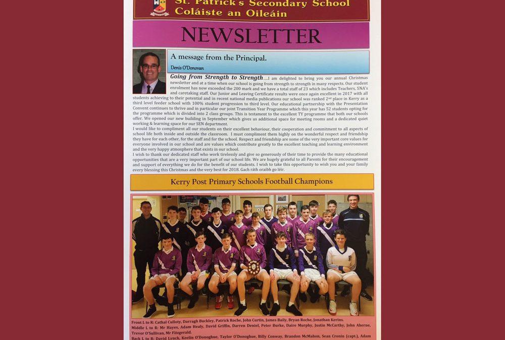 Xmas Newsletter 2017